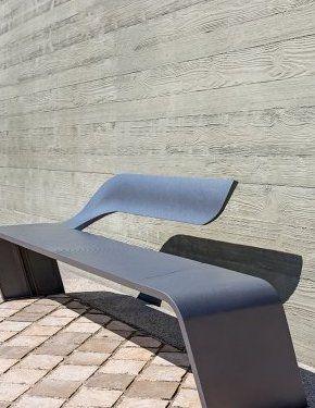 Bench Aluminium Wave - Concept Urbain - Fabricant de mobilier urbain – Street furniture manufacturer