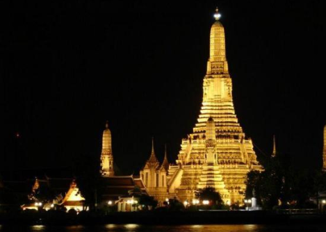 """THAILAND - Bangkok Temple of Dawn: """"This temple is stunning particularly in the evening when lit up...While the stairs are a bit precarious, the view from the top of the temple is fabulous!""""  http://www.tripadvisor.com/Attraction_Review-g293916-d317504-Reviews-Temple_of_Dawn_Wat_Arun-Bangkok.html"""