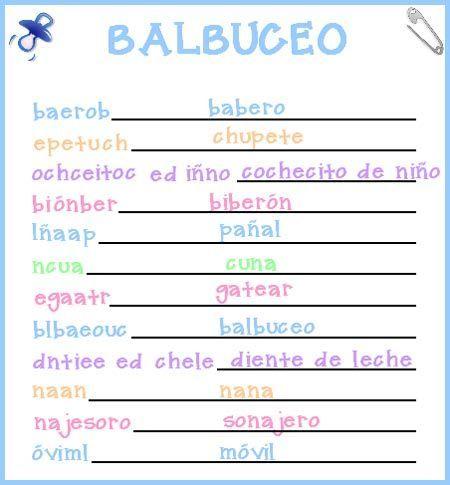 Juegos De Baby Shower Para Imprimir Con Respuestas Imagui Baby