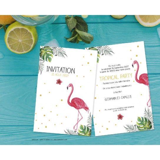 Invitation Tropical Party Un événement à Souhaiter Une