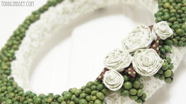 DIY Acorn & Rosette Wreath