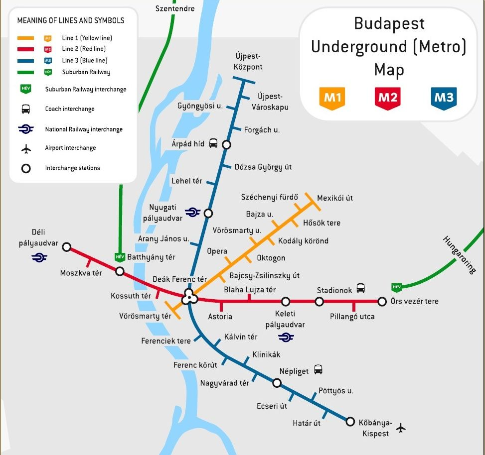 Budapest Only a small Metro system but clean and pleasant to use