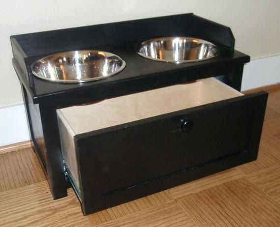 Charmant Dog Feeder And Storage Raised Dog Feeder Iris Double Diner Elevated Dog  Feeder With Airtight Storage