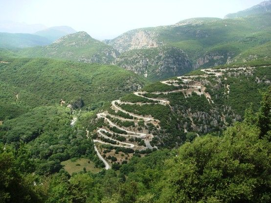 Greece - A long way up to Papigko on the Vikos Gorges