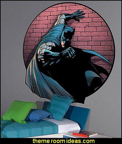 batman spotlight wall decal superheroes bedroom ideas batman spiderman superman decor captain captain america comic bookstheme