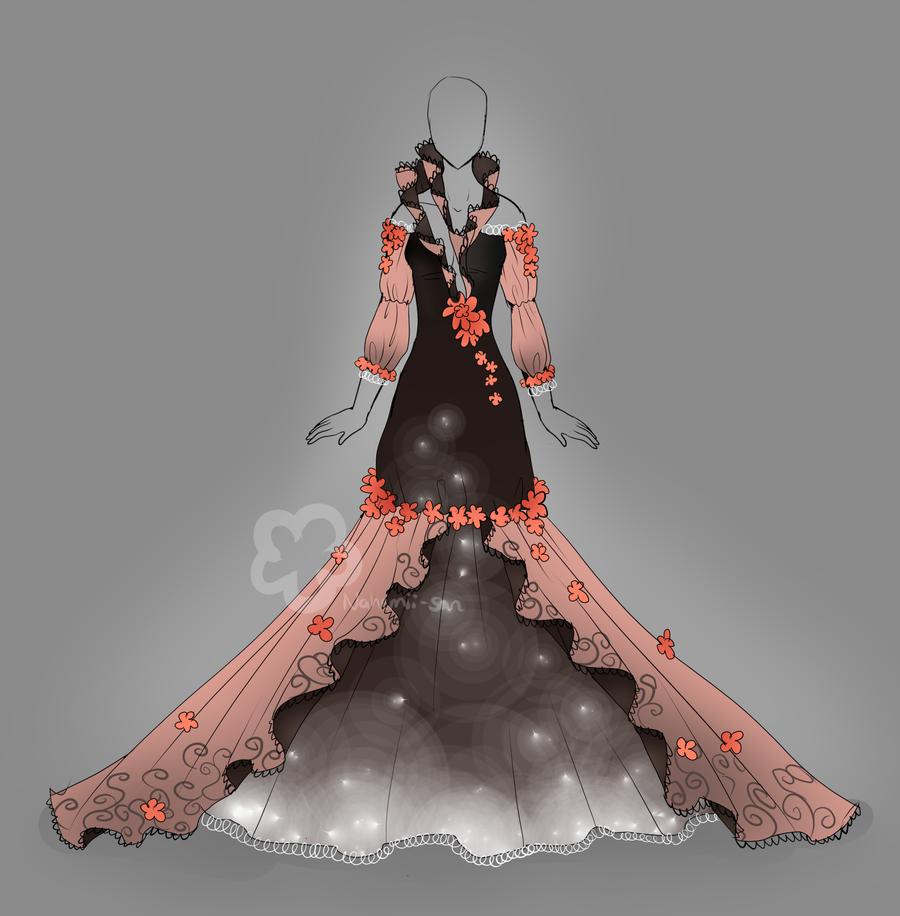 Flower dress design closed by nahemiisanviantart on