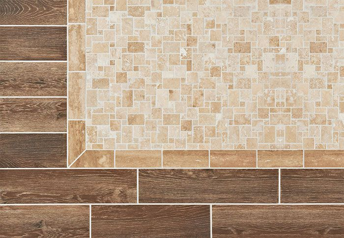 """Decorative Travertine Tile Borders Use Mosaic Tile To Make A """"rug"""" In A Floor  Restaurant Ideas"""