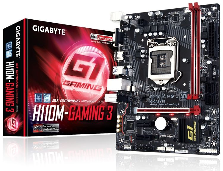 Gigabyte Ga H110m Gaming 3 Micro Atx Format Is Designed For Pc Gaming Your News Ticker Motherboard Gigabyte Games