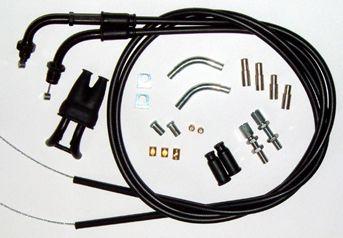 U01 4 150 Universal Twin Throttle Cable Kit Throttle Universal Motorcycle