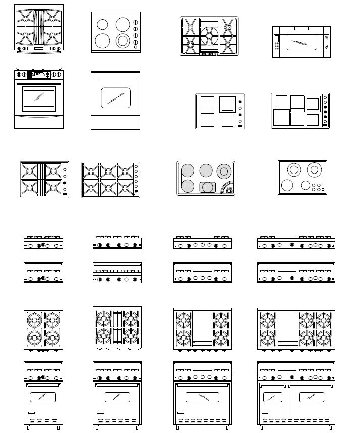 Stone Work In Elevation Symbol : Archblocks autocad range block symbols drafting