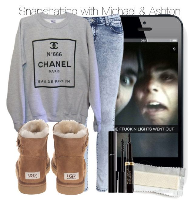 """Snapchatting with Michael and Ashton"" by swaggxdirection ❤ liked on Polyvore featuring Chanel and UGG Australia"