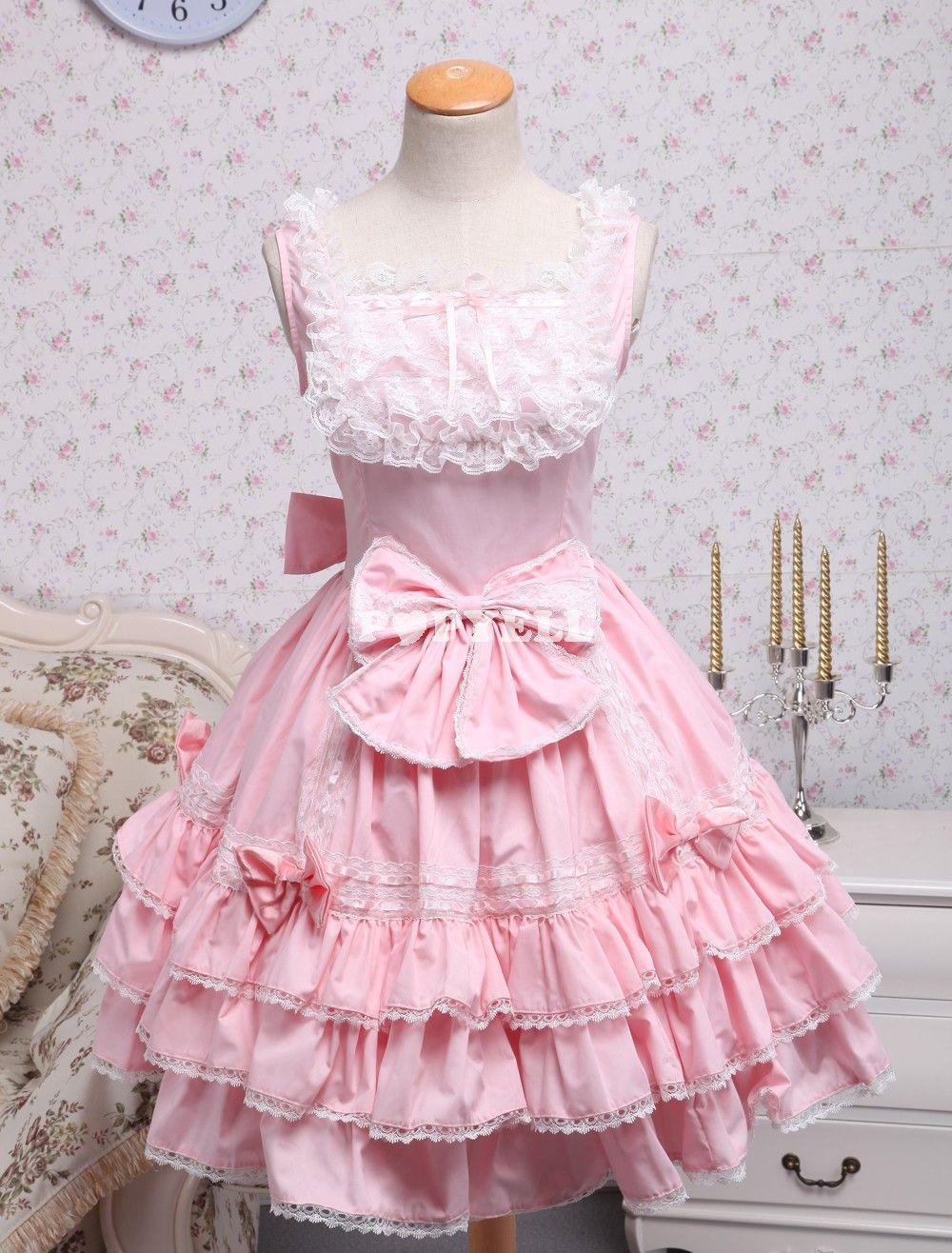 Vestido lolita, baby doll rosa   Kawaii Things   Pinterest   Lugares ...