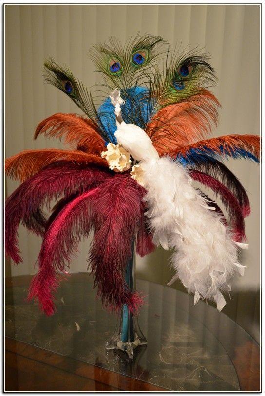 Centro de Mesa Plumas Ostrich w/ Peacock * CM_071 $95.75  http://centrosdemesasyrecuerdos.com/tienda/centro-de-mesa-plumas-ostrich-w-peacock-cm_071/