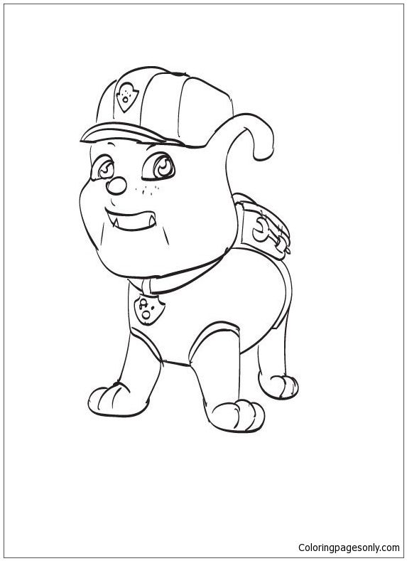 pin de coloring pages en paw patrol coloring pages pinterest
