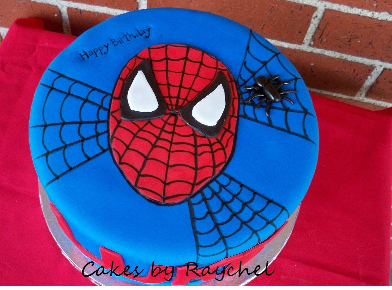 Simple Spiderman Cake spiderman Cakes Pinterest Spiderman