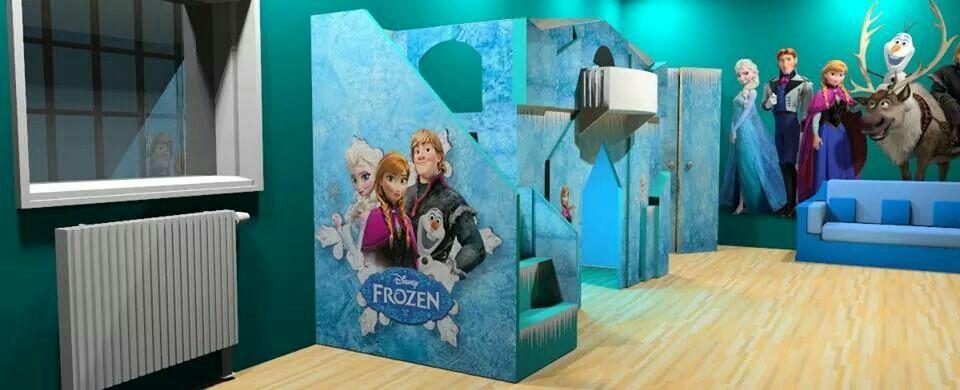 Frozen Playhouse Loft Bed Reine Des Neiges