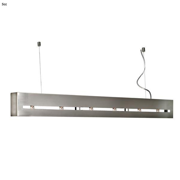 hanglamp terni rvs 150 cm 6 lichtpunten hanglampen