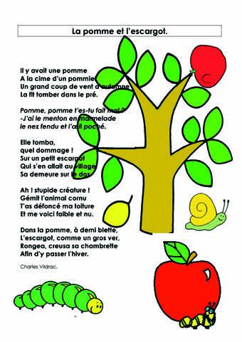 Berühmt L'école maternelle André Malraux - 02- les albums - 05-Le poème  TC05
