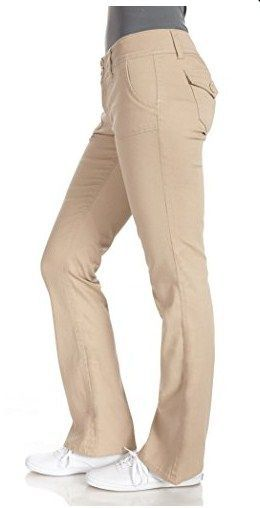 dbaffe834c WallFlower Juniors Long Inseam Legendary Bootcut Chino Pants in Khaki Size 3
