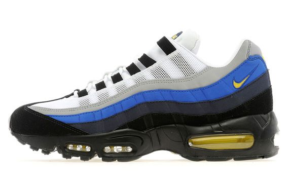 huge discount b6b83 d80af Nike Air Max 95 White Black Obsidian Yellow