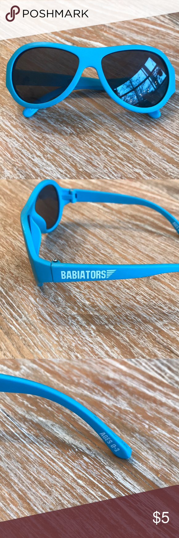 57811d8fb5d Babiator sunglasses (sizes 0-3) Babiator sunglasses (sizes 0-3). Bright  blue in color. Great condition. We loved these glasses and they were so  comfortable ...