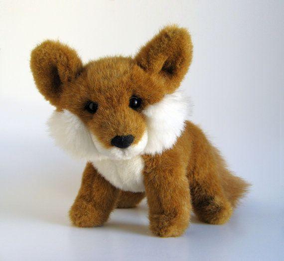 Vintage Fox Stuffed Animal By Gund 1990s Toy Plush Fox Sly Fox Etsy Fox Stuffed Animal Vintage Fox Animals