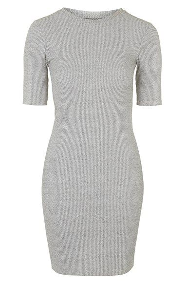 Topshop+Half+Sleeve+Ribbed+Body-Con+Dress+(Nordstrom+Exclusive)+available+at+#Nordstrom