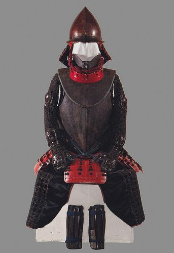 This is the European-style armor that Tokugawa Ieyasu wore, supposedly at the battle of Sekigahara in 1600. As a result of his monumental victory at Sekigahara, Ieyasu was able to have himself proclaimed Shogun three years later. During the Momoyama period, it was popular to incorporate European designs into armor. This style of armor is called namban gusoku and this particular suit is considered a national treasure and is stored at Nikko Toshogu-- the Shinto shrine where Ieyasu is entombed.
