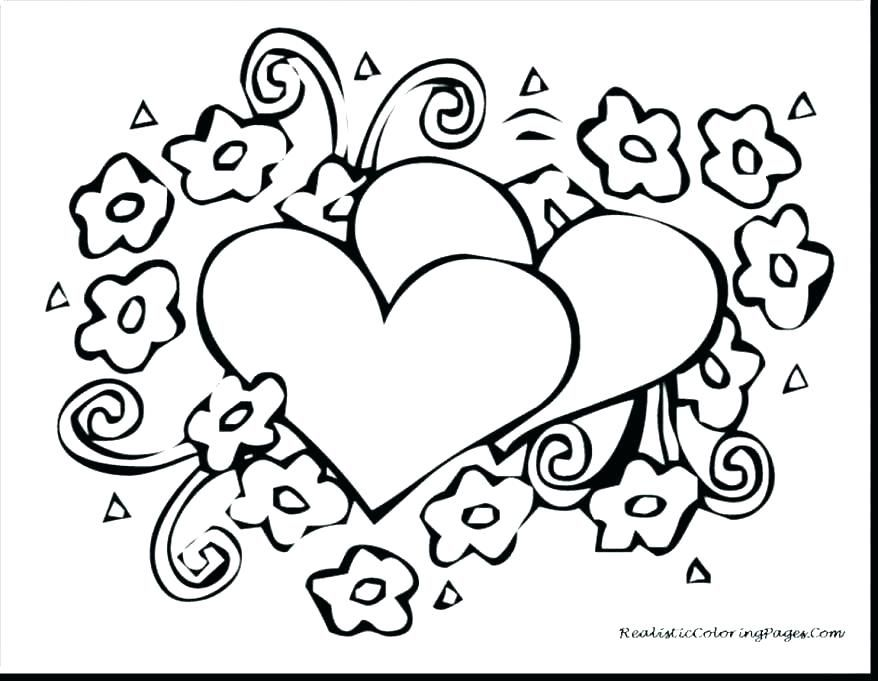 Printable Coloring Pages Hearts And Flowers Heart Coloring Pages Love Coloring Pages Flower Coloring Pages