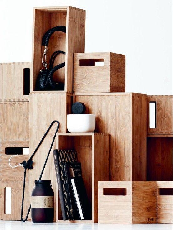 Kvik Garderobe Bambus Kasser Hjem Kasser Bambus