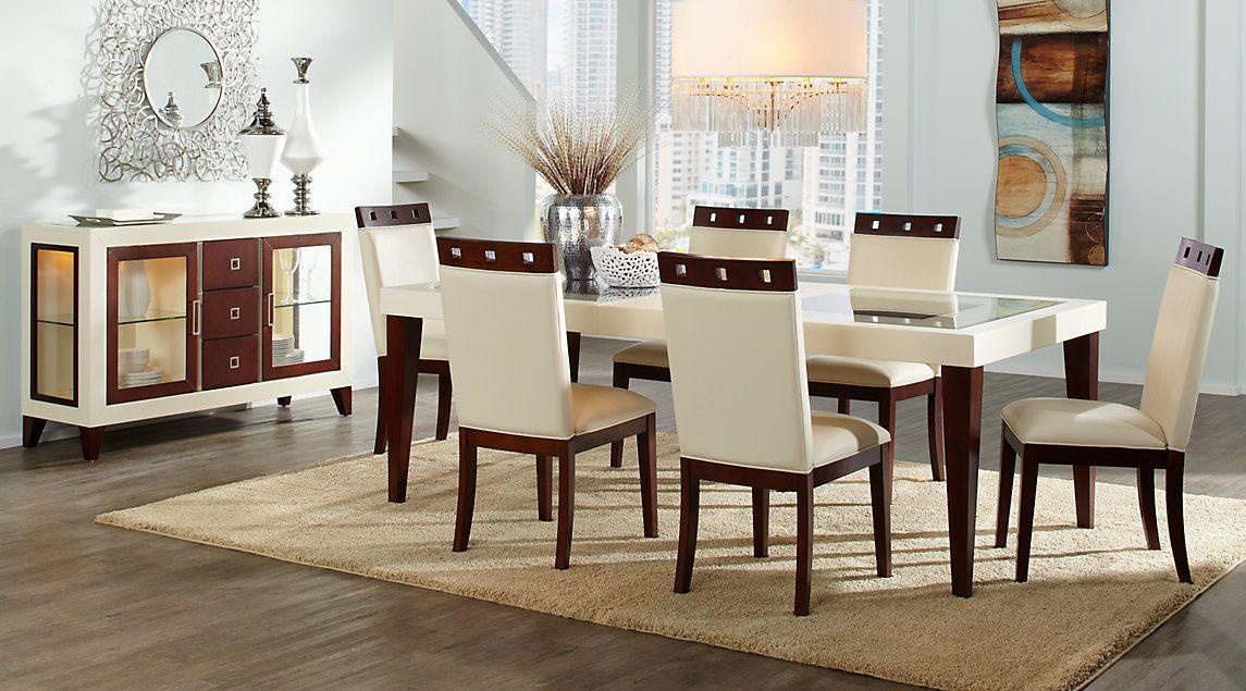 Sofia Vergara Savona Ivory 5 Pc Rectangle Dining Room Dash
