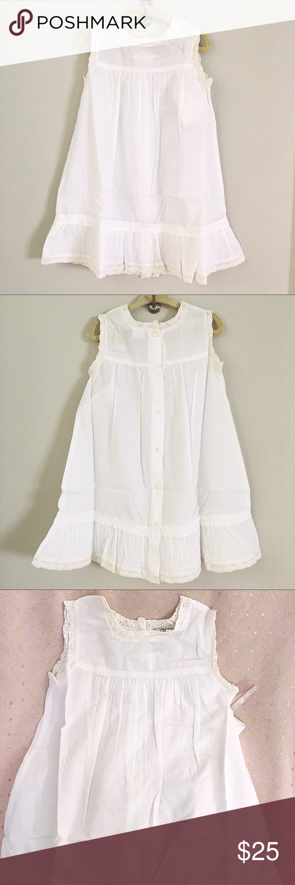 Girls White Embroidery Pinafore Dress 2t 3t 4t Girls White Dress Pinafore Dress Casual Dresses [ 1740 x 580 Pixel ]