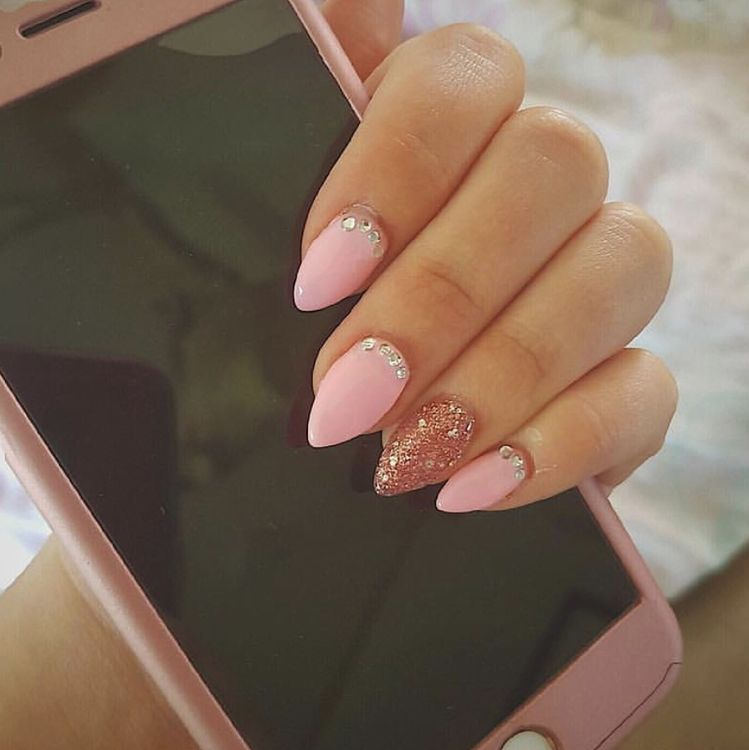 42 Short Natural Acrylic Ombre Almond Nails Ideas Designs For Summer