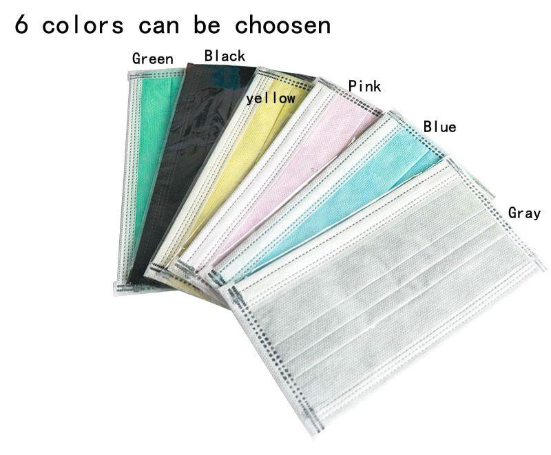 50Pcs//lot 4-layer activated carbon anti fog dust disposable masks