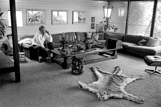 teve McQueens Living Room California 1963 kakkoii