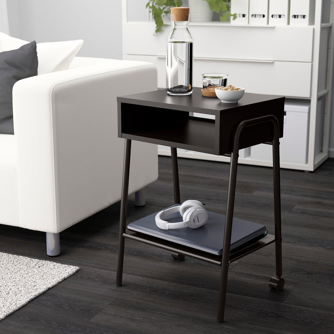 Setskog Nightstand Black 17 3 4x13 3 4 Ikea Black Bedside Table Bedside Table Nightstand [ 1400 x 1400 Pixel ]