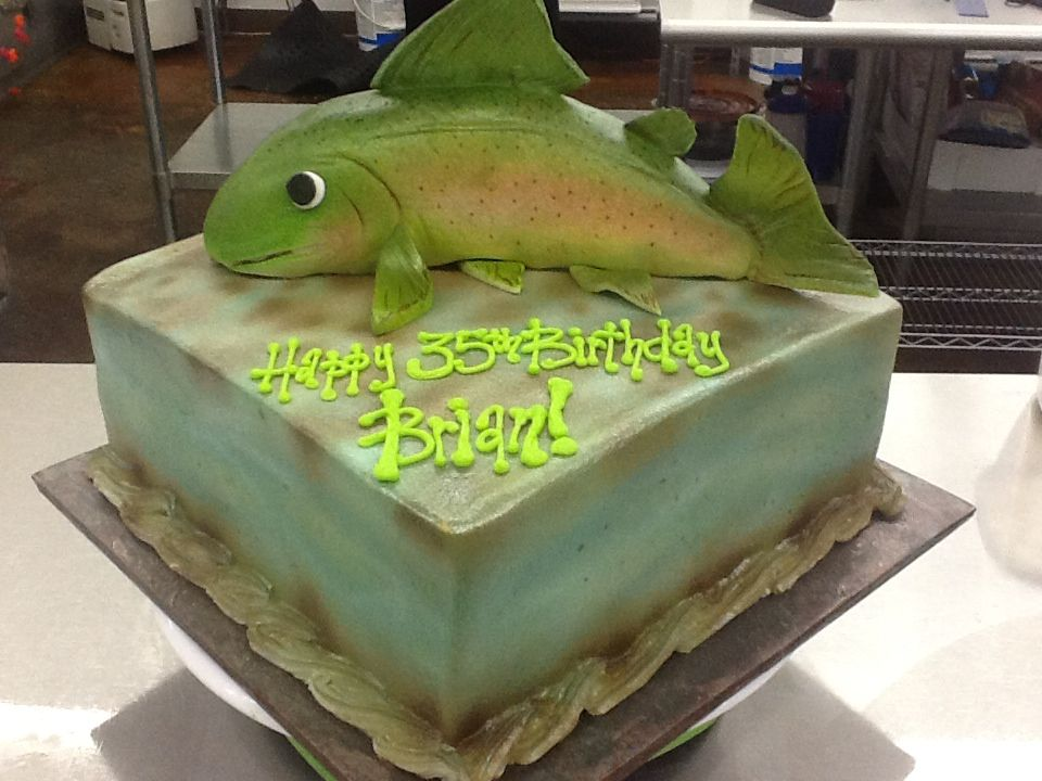 """""""Trout"""" Cake by Sweet Boutique"""