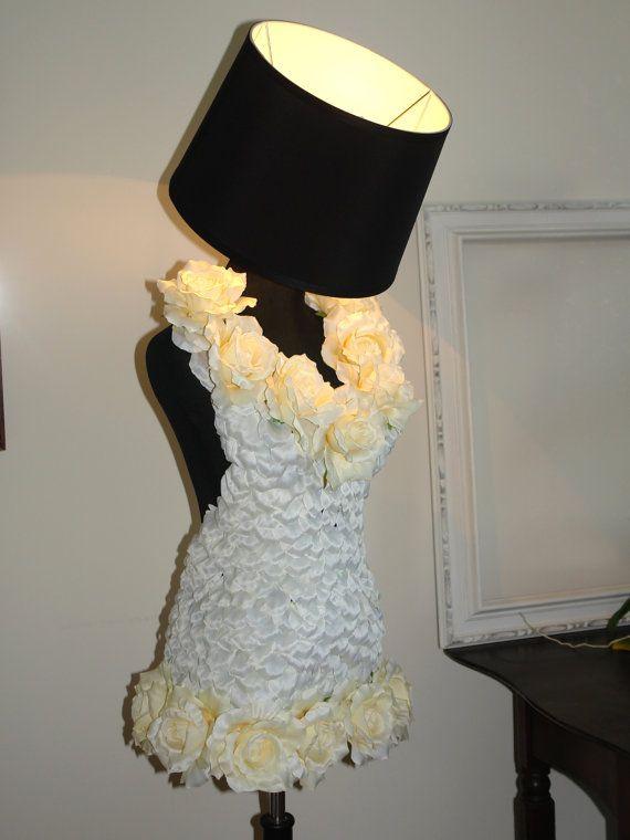 Mannequin Lamp love floor lamp romantic floral lamp mannequin table lamp home