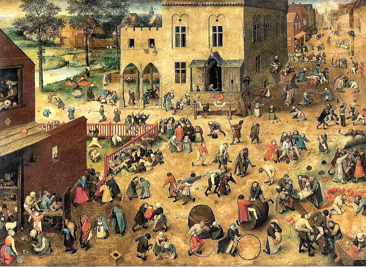 Artist: Pieter Bruegel Name: Children\'s Games Date: 1560 This ...