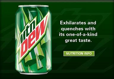 Mountain Dew Mountain Dew Beverage Can Canning