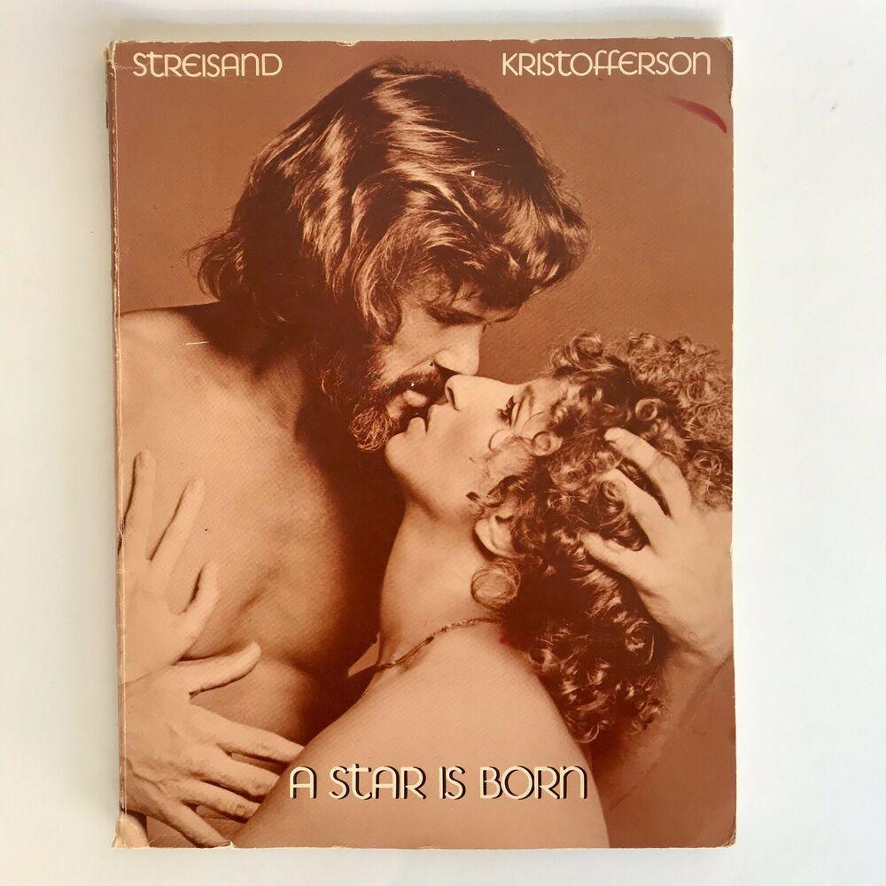 1976 A Star Is Born Sheet Music Book Kristofferson Streisand Movie