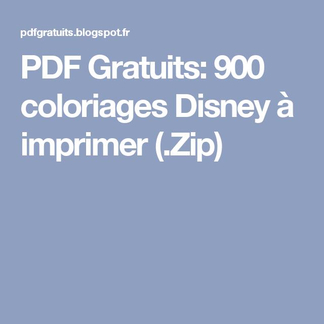 Coloriage Disney Gratuit Pdf.Pdf Gratuits 900 Coloriages Disney A Imprimer Zip Brico