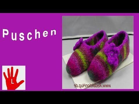 Häkeln Linkshänder Puschen Pantoffeln Filzen Filzen
