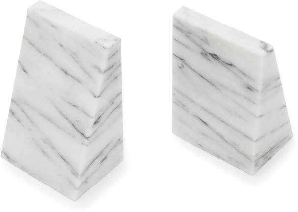 Triangular Marble Bookends Joss Main In 2020 Decorative Bookends Bookends Marble