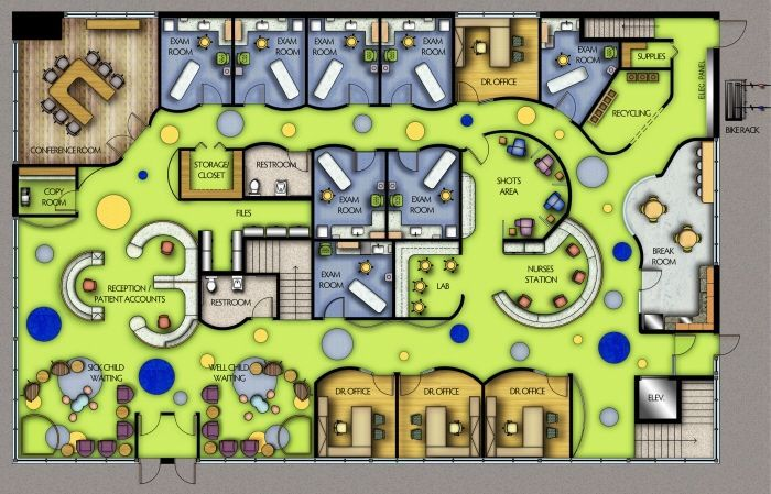 Pediatric Hospital Layout Healthcare Design Medical Office Design Clinic Design