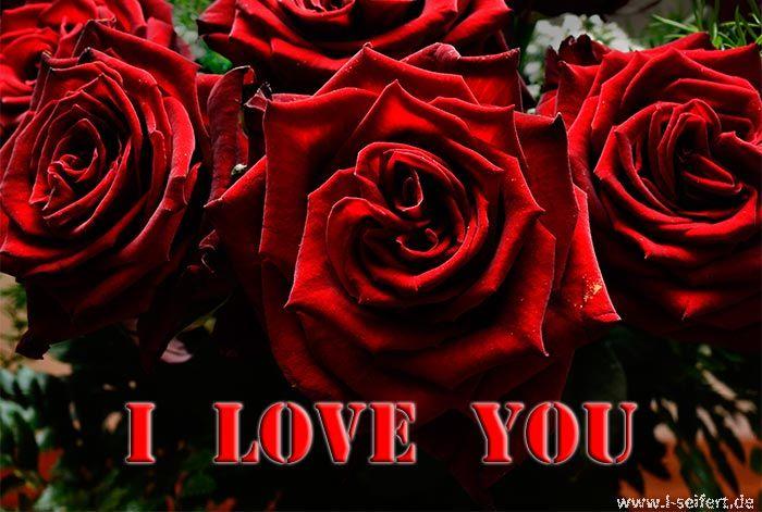 Ich Liebe Dich. I Love You. Grußkarten Zum Valentinstag. Https://