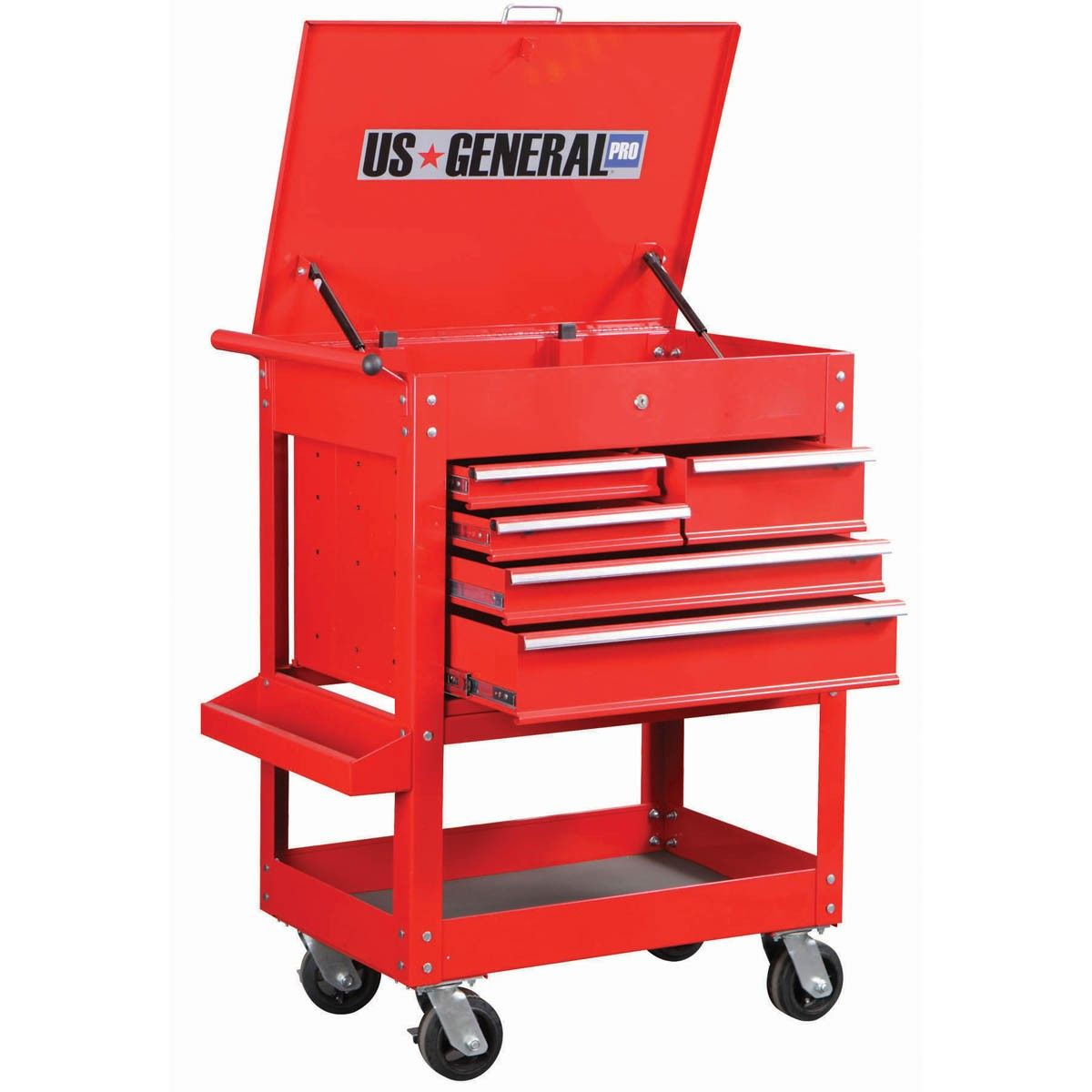 30 in. 5 Drawer Glossy Red Tool Cart | Tool cart, Tool storage and ...