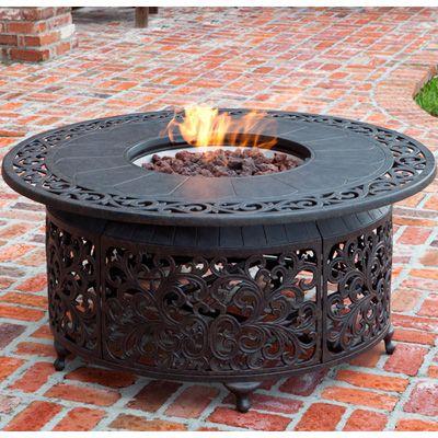 Propane Fire Pit Fire Sense Cast Aluminum Propane Gas Fire Pit