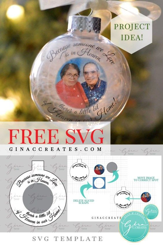 How to make a Memorial Ornament with Free SVG Template #cricutvinylprojects