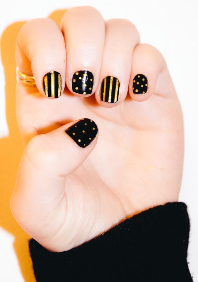 Rio Nail Art Pens Review - Black, Gold, Stripes, Spots - NOTD ...